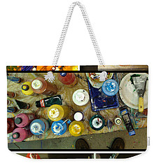 Weekender Tote Bag featuring the photograph Les Couleurs by Sir Josef - Social Critic - ART