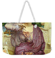 Lesbia And Her Sparrow Weekender Tote Bag by Sir Edward John Poynter