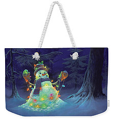 Weekender Tote Bag featuring the painting Let It Glow by Michael Humphries