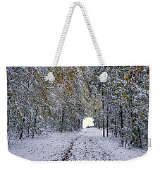 Weekender Tote Bag featuring the photograph Let It Snow by Felicia Tica
