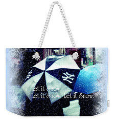 Let It Snow - Happy Holidays - Ny Yankees Holiday Cards Weekender Tote Bag