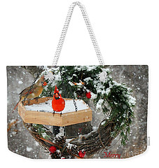 Weekender Tote Bag featuring the photograph Let It Snow by Nava Thompson
