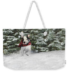 Snow Day Weekender Tote Bag by Shelley Neff