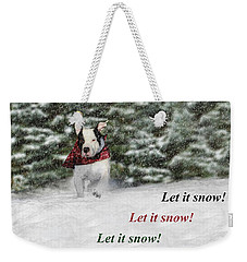 Let It Snow Weekender Tote Bag by Shelley Neff