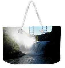 Letchworth State Park Upper Falls And Railroad Trestle Weekender Tote Bag