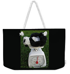 Weekender Tote Bag featuring the photograph Let's Check My Weight Now by Ausra Huntington nee Paulauskaite