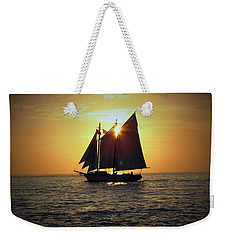 A Key West Sail At Sunset Weekender Tote Bag