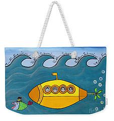 Lets Sing The Chorus Now - The Beatles Yellow Submarine Weekender Tote Bag