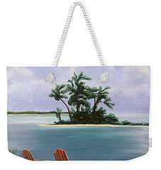 Let's Swim Out To The Island Weekender Tote Bag by Jack Malloch