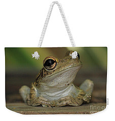 Let's Talk - Cuban Treefrog Weekender Tote Bag by Meg Rousher