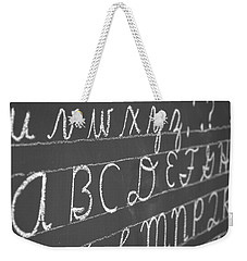 Letters On A Chalkboard Weekender Tote Bag