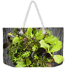 Lettuce Seedlings Weekender Tote Bag by Elena Elisseeva