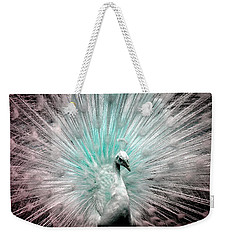 Leucistic White Peacock Weekender Tote Bag