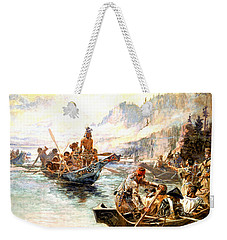 Lewis And Clark On The Lower Columbia  Weekender Tote Bag