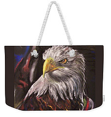 Weekender Tote Bag featuring the pastel American Pride by Peter Suhocke