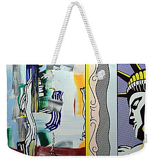 Lichtenstein's Painting With Statue Of Liberty Weekender Tote Bag