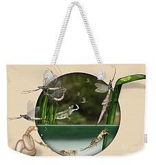 Life Cycle Of Mayfly Ephemera Danica - Mouche De Mai - Zyklus Eintagsfliege - Stock Illustration - Stock Image Weekender Tote Bag