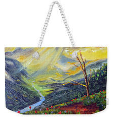 Weekender Tote Bag featuring the painting Life Force by Meaghan Troup
