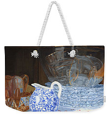 Weekender Tote Bag featuring the painting Life Is A Carnival Glass by Lynne Reichhart