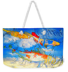 Life Is But A Dream - Koi Fish Art Weekender Tote Bag by Sharon Cummings