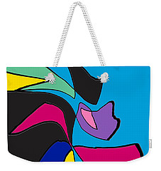 Original Abstract Art Painting Life Is Good By Rjfxx.  Weekender Tote Bag