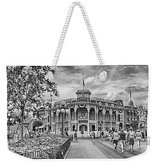 Weekender Tote Bag featuring the photograph Life On Main Street by Howard Salmon