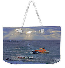 Lifeboats And A Gig Weekender Tote Bag