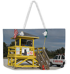 Weekender Tote Bag featuring the photograph Lifegard And Beachpatrol by Christiane Schulze Art And Photography