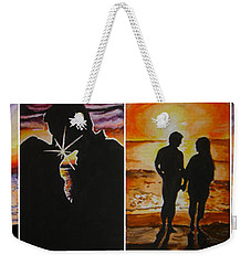 Weekender Tote Bag featuring the painting Life's A Beach by Tamir Barkan