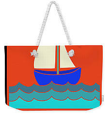 Weekender Tote Bag featuring the digital art Life's A Reach And Then You Jibe by Vagabond Folk Art - Virginia Vivier