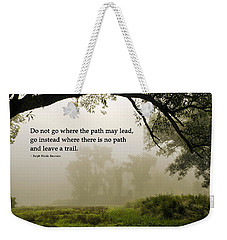 Life's Path Inspirational Art Weekender Tote Bag