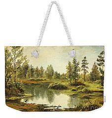 Weekender Tote Bag featuring the painting Light After The Storm by Sorin Apostolescu