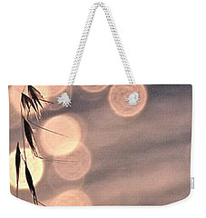 Light Bubbles And Grass 3 Weekender Tote Bag by Jocelyn Kahawai