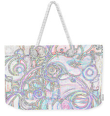 Light Circular Chicken Weekender Tote Bag
