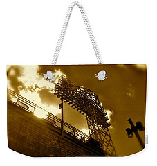 Weekender Tote Bag featuring the photograph Light  Fenway Park by Iconic Images Art Gallery David Pucciarelli