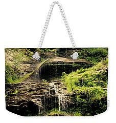 light flow at Cathedral Falls Weekender Tote Bag