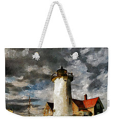 Light House In A Storm Weekender Tote Bag
