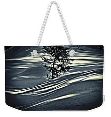 Weekender Tote Bag featuring the photograph Light On The Snow by Janie Johnson