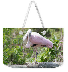 Light Pink Roseate Spoonbill Weekender Tote Bag by Carol Groenen