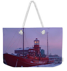 Weekender Tote Bag featuring the photograph Light Ship by John Williams