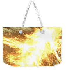 Weekender Tote Bag featuring the digital art Light Spark by Kim Sy Ok