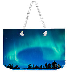 Light Swirl On Rainy Lake Weekender Tote Bag