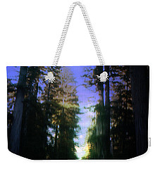 Weekender Tote Bag featuring the digital art Light Through The Forest by Cathy Anderson