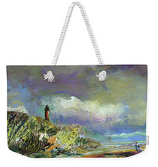Lighthouse And Fisherman Weekender Tote Bag