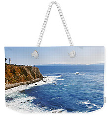 Lighthouse At A Coast, Point Vicente Weekender Tote Bag