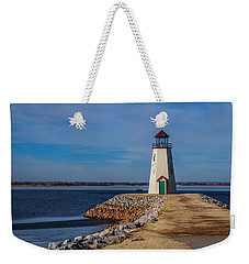 Lighthouse At East Wharf Weekender Tote Bag