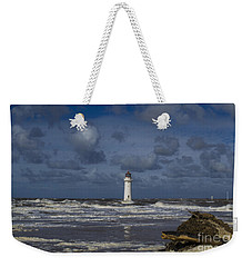 lighthouse at New Brighton Weekender Tote Bag by Spikey Mouse Photography