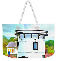 Lighthouse At Old Saybrook Point Weekender Tote Bag