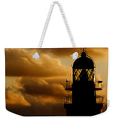 lighthouse dawn in the north coast of Menorca Weekender Tote Bag