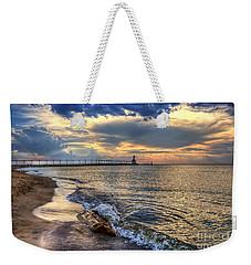 Lighthouse Drama Weekender Tote Bag
